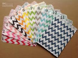 where to buy cheap wrapping paper 5 7 wedding chevron dot stripe favor bags candy paper goods bag