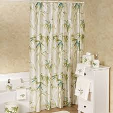 zen bamboo faux silk shower curtain