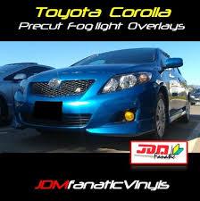 toyota corolla 08 08 10 toyota corolla precut yellow fog light overlays tint