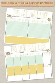 free daily and weekly planner printables free calendar calendar