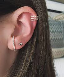 cuff piercing diamond spiral ear cuff no piercing ef collection