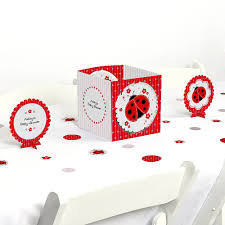 modern ladybug baby shower table decorating kit
