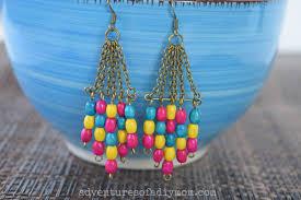make dangle earrings wooden bead dangle earrings adventures of a diy