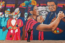 how tucson artist rock martinez evolved from tagger to muralist artist rock martinez at his latest mural of frida kahlo and diego rivera painted on a private residence near west cushing street and avenida del palo fierro