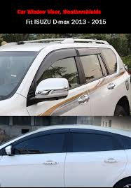black weather shields car window visors sun rain guards isuzu d