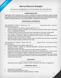 Nanny Resume Example Nanny Resume Sample Writing Guide Resume Genius Nanny Resume