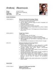 Curriculum Vitae Resume Definition by Andrzej Aksenczuk Cv
