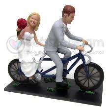 custom bicycle built for two wedding cake topper custom wedding