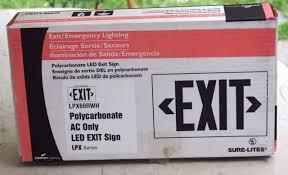 sure lites emergency lights cooper lighting sure lites polycarbonate ac only led exit sign