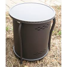 Propane Tank Fire Pit Outdoor Greatroom Propane Tank Cover And Side Table With Glass Top