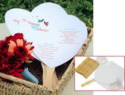 diy wedding programs kits heart wedding program fan kit diy paper fans for wedding 50 pk