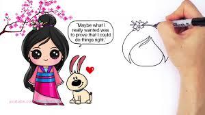 hd draw chibi mulan step step cute disney