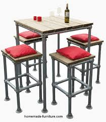 High Bar Table And Stools High Table Made From Pallets Free Catering Furniture Construction