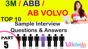 ab volvo 3m abb ab volvo important interview questions and answers for