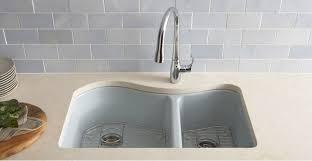 kohler cast iron kitchen sink enameled cast iron kitchen sinks care amp cleaning kitchen kohler
