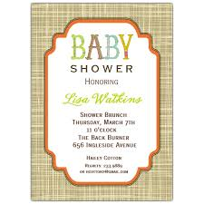 unisex baby shower letter unisex baby shower invitations paperstyle
