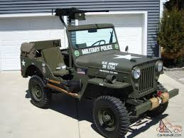 jeep army green 1960 cj3b army m606 style vietnam military type highhood jeep