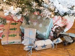 how to make potato stamped gift wrap hgtv
