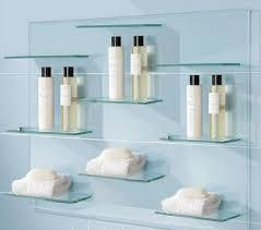 Glass Bathroom Shelves Cool Glass Bathroom Shelves Goodhome Ids