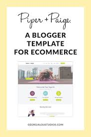 a sneak peek at piper paige an ah mazing blogger template for e