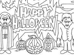 halloween coloring happy halloween dracula