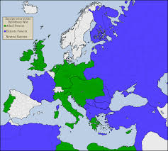 World War I Alliances Map by Wi 1903 Anglo German Alliance Alternate History Discussion