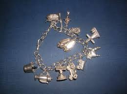 antique charm bracelet silver images Antiques atlas solid silver charm bracelet 11 charms jpg
