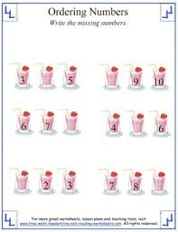 ordering numbers counting worksheets