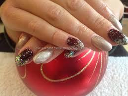 red and gold filigree nails design elegant red tip nail art gold