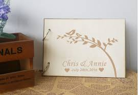 wedding guest books personalized wedding guest book rustic wedding guestbook album
