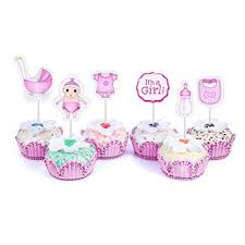 amazon com 48 cupcake toppers it u0027s a baby shower kids party