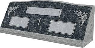 headstone markers slant headstones for couples companion slant markers