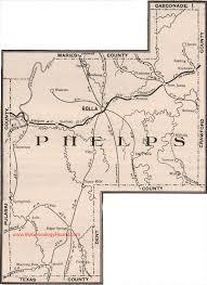 missouri map phelps county missouri 1904 map