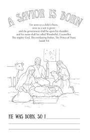 november coloring pages preschoolers savior born print