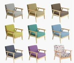 Single Bistro Chair Fabric Japanese Style Wooden Chair Colored Wood Chairs Cafe Table