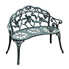iron park benches amazon com outsunny cast iron antique rose style outdoor patio