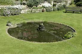 Backyard Pond Images Small Round Backyard Pond