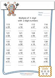 3 digit by 2 digit multiplication worksheet 2