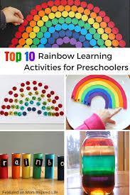 top 10 rainbow learning activities for preschoolers png