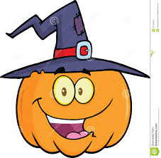 happy halloween witch and pumpkin royalty free stock images