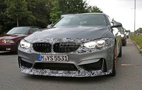 2018 bmw m4 facelift lci spied with m4 gts like camouflaged