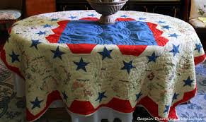 bargain decorating with laurie friday fave patriotic quilt