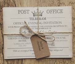 vintage wedding invitations cheap sample vintage travel wedding invitation telegram wedding