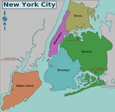 map new york map of nyc 5 boroughs neighborhoods