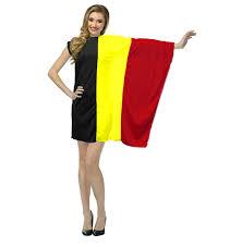 Belgia Flag Ladies Supporters Dress Belgian Flag Fancy Dress St Josephs Day