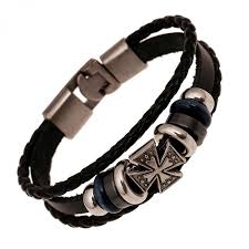 anchor leather bracelet man images Fashion jewelry anchor alloy leather bracelet men casual jpeg