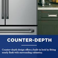 Counter Depth Stainless Steel Refrigerator French Door - ge 22 2 cu ft counter depth french door refrigerator in