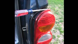 red jeep liberty 2008 jeep liberty change stop turn and tail bulbs youtube