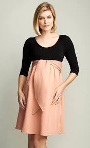 maternal america maternal america blush front tie ponte maternity dress bellablu
