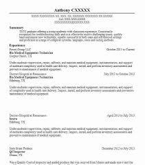 copier technician resume best medical equipment technician resume example livecareer